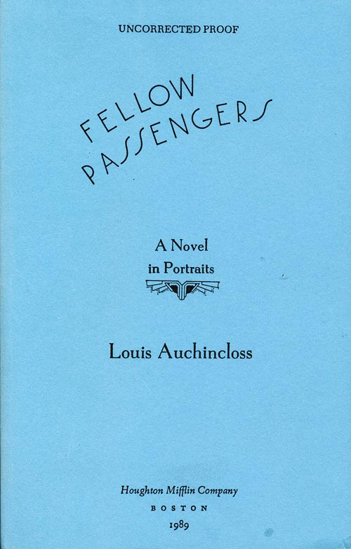 Fellow Passengers: A Novel in Portraits. Louis Auchincloss.