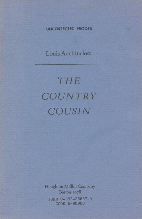 The Country Cousin. Louis Auchincloss.