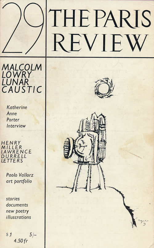 The Paris Review #29 Winter Spring 1963. Lawrence Durrell, Henry Miller, Robert Pack, Elizabeth Jennings.