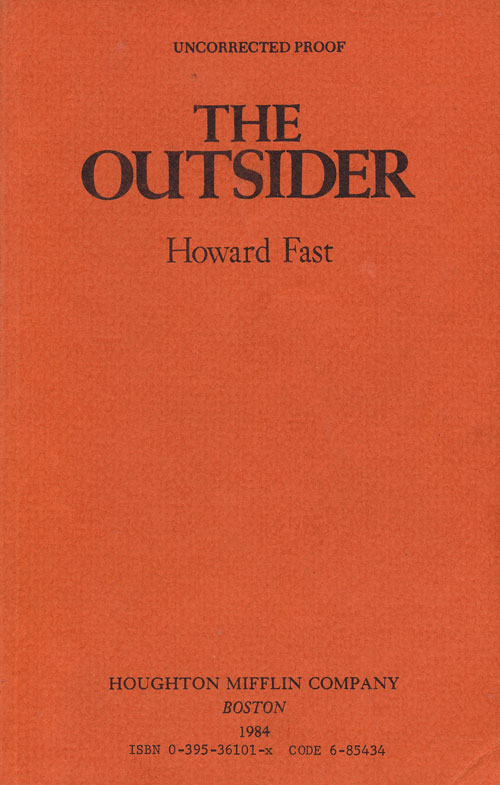 The Outsider. Howard Fast.