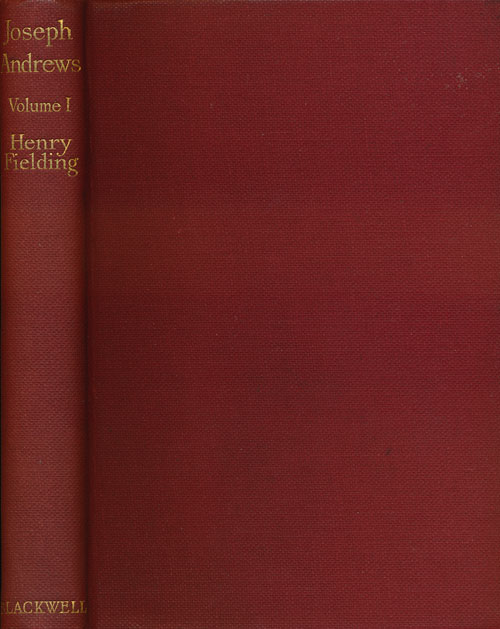 The History of the Adventures of Joseph Andrews. Henry Fielding.