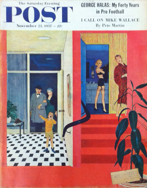 """A Night for Love"" In the Saturday Evening Post, November 23, 1957. Kurt Jr Vonnegut."