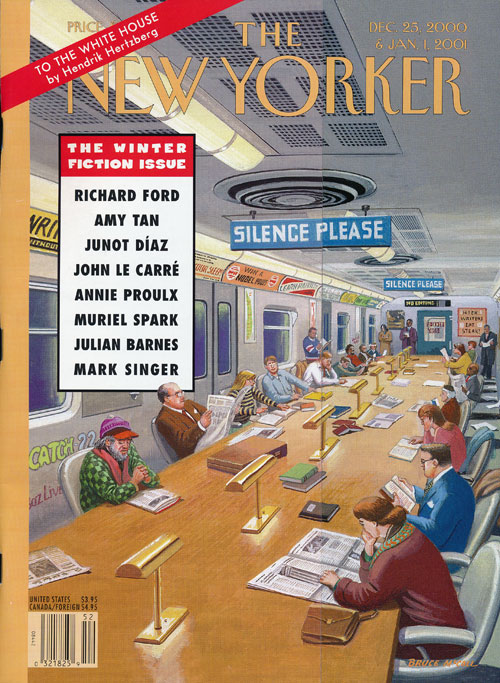 The New Yorker: December 25, 2000 and January 1, 2001 The Winter Fiction Issue. Julian Barnes, Richard Ford, Amy Tan, Junot Diaz, Muriel Spark, Etc.