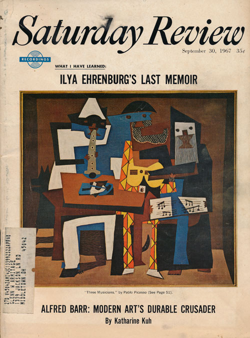 Saturday Review: September 30, 1967. Ed Ainsworth, Kenneth Rexroth, Alan S. Boyd, Ilya Ehrenburg, Etc.