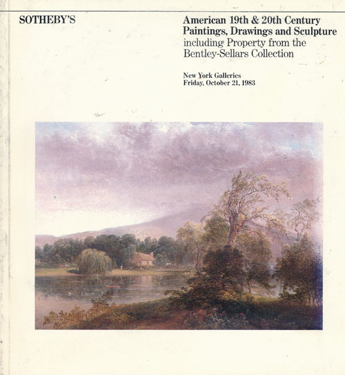 American 19th & 20th Century Paintings, Drawings, and Sculpture Including Property from the Bentley-Sellars Collection October 21, 1983 (Sale 5093). Sotheby Parke Bernet.