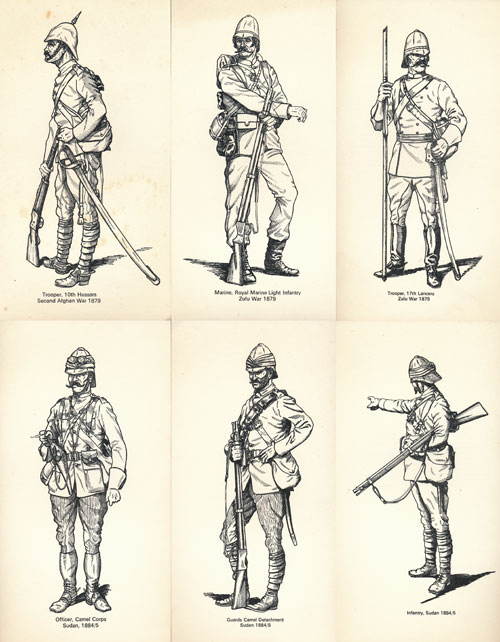 Soldiers of the British Colonial Wars Set No. 2
