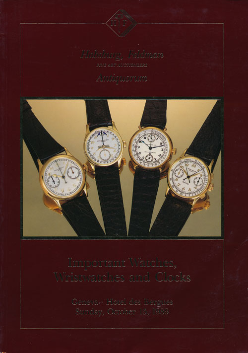 Important Watches Wristwatches and Clocks Sunday, October 15, 1989