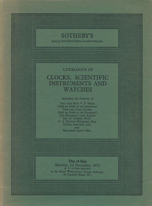 Catalogue of Clocks, Scientific Instruments and Watches. Sotheby's.