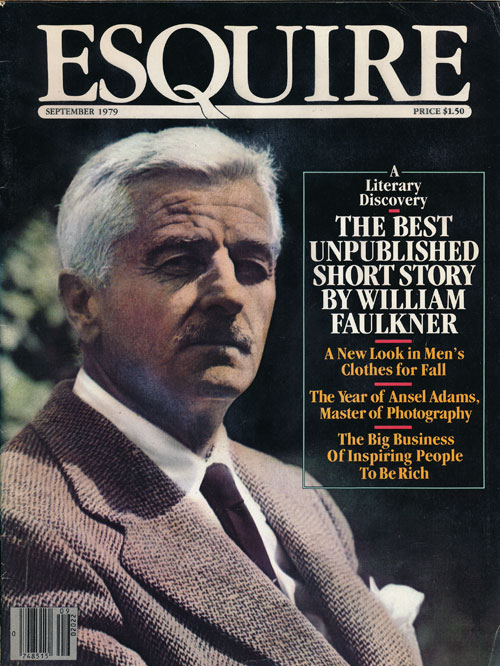 Esquire Volume 92, No. 3, September 1979. William Faulkner, Ansel Adams, Edward Sorel.