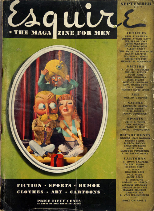 The Ears of Johnny Bear In Esquire September, 1937. John Steinbeck, F. Scott Fitzgerald.