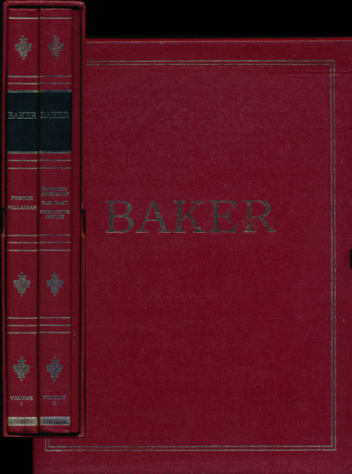 The Baker Catalogue 2 Volumes + an Index