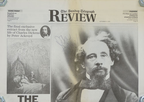 """""""The Death of Nell""""--Final Extract from Ackroyd's Life of Dickens, September 9, 1990 The Sunday Telegraph Review. Peter Ackroyd."""
