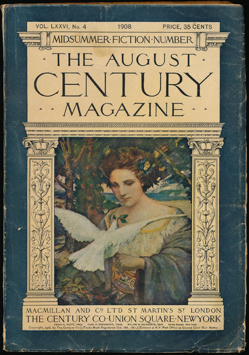 """To Build a Fire"" in the Century Magazine, Volume LXXVI, No. 4, August 1908. Jack London."