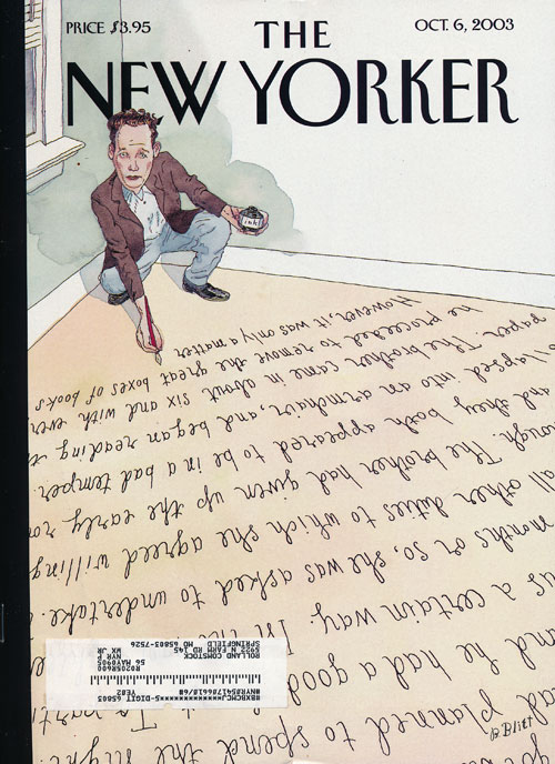 The New Yorker October 6, 2003. Gabriel Garcia Marquez, Tim Parks, Jonathan Franzen.