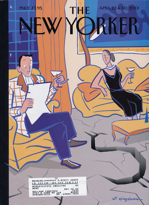 The New Yorker, April 23 & 30, 2001 The Money Issue. Jonathan Franzen, Desmond Barry, Margaret Atwood, Nicholson Baker, Lorrie Moore, Art Spiegelman, John Updike.
