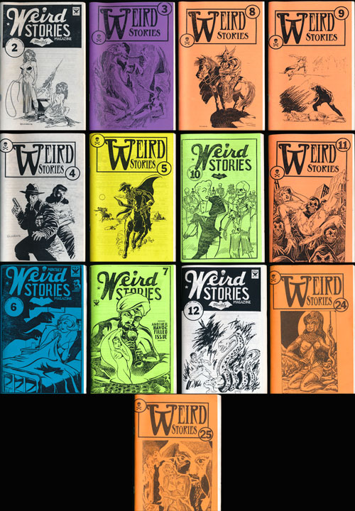 Weird Stories 13 Issues Numbers 2-12, 24 and 25. Tom Johnson, Virginia Johnson.