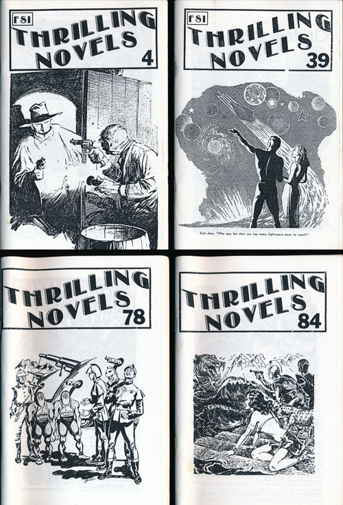 Thrilling Novels 4 Issues Numbers 4, 39, 84 and 78. Tom Johnson, Virginia Johnson.