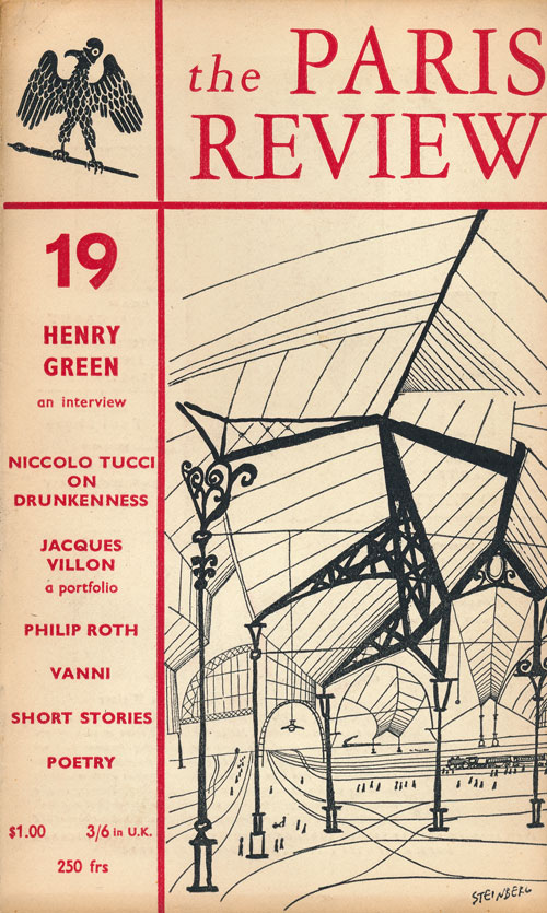 The Paris Review 19 Summer 1958. George Plimpton, Philip Roth, V. S. Naipaul, Henry Green, Jacques Villon, Philip Larkin, James Merrill.