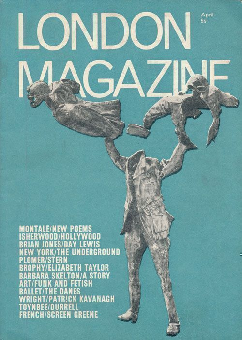 London Magazine April 1968, Volume 8, Number 1. Lawrence Durrell, Barbara Skelton, David Wright, Charles Higham, Etc.
