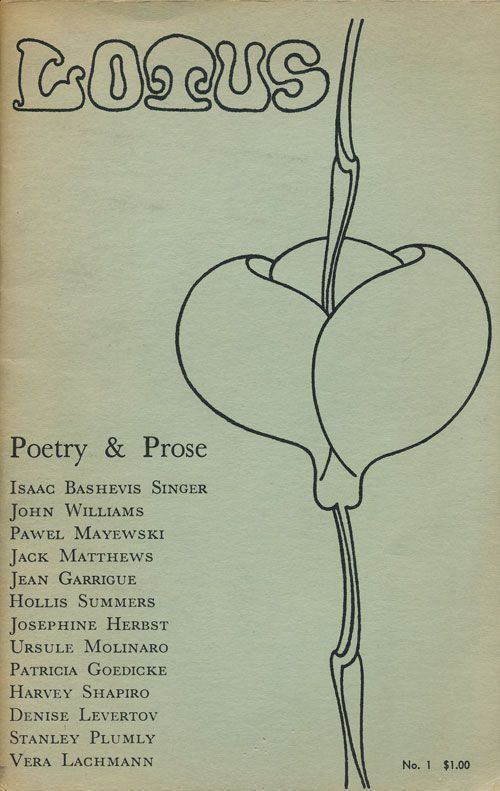 Lotus Poetry and Prose. Isaac Bashevis Singer, Harvey Shapiro, Stanley Plumly, Denise Herbst Levertov, Josephine.