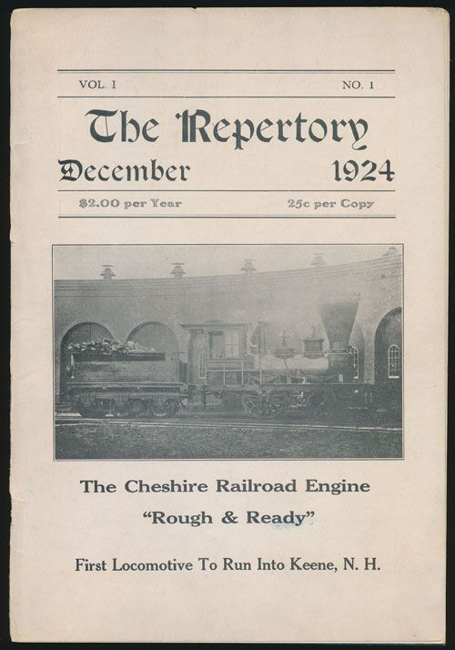 The Repertory Vol 1 No 1 December, 1924