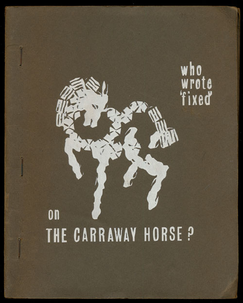 Who Wrote 'fixed' on the Carraway Horse? David Mycroft.