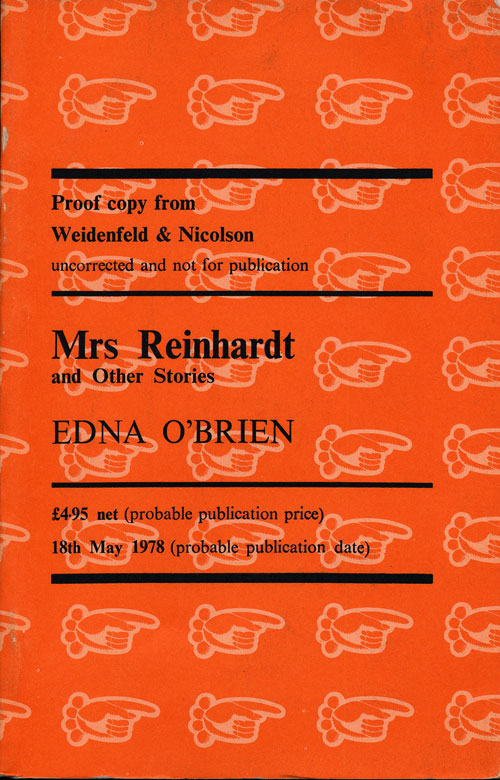 Mrs. Reinhardt and Other Stories. Edna O'Brien.