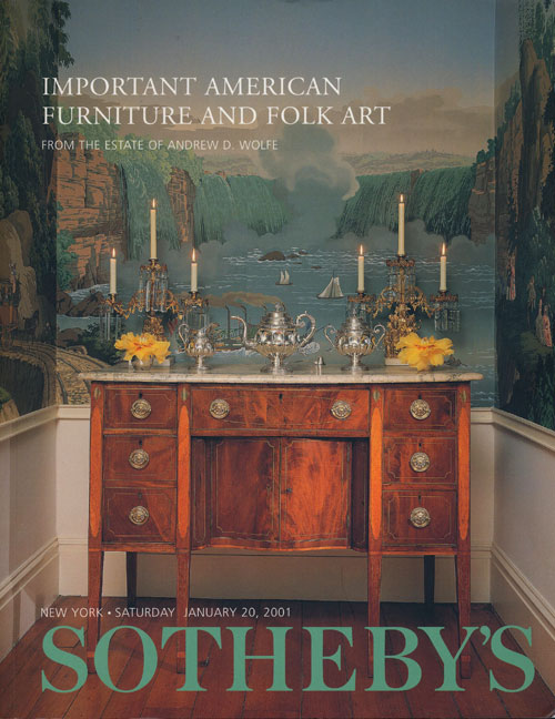 Sotheby's Important Americana: Furniture and Folk Art from the Estate of Andrew D. Wolfe, Saturday January 20, 2001. Sale # 7591. Sotheby's, Auction Cataloge.