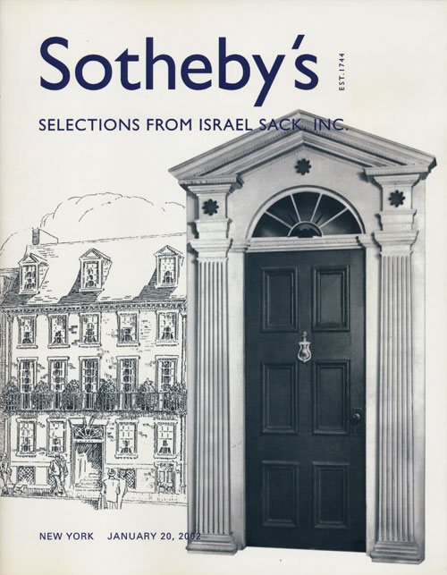 Sotheby's Selections from Israel Sack, Inc. : January 20, 2002. Sale # 7761. Sotheby's, Auction Cataloge.