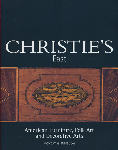 Christie's East. American Furniture, Folk Art and Decorative Arts; Monday 18 June 2001. Sale # 8541. Christie's.