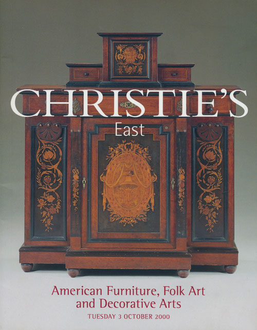 Christie's East. American Furniture, Folk Art and Decorative Arts; Tuesday 3 October 2000. Sale # 8425. Christie's.