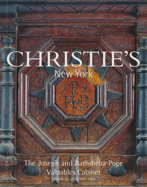 The Josepha and Bathsheba Pope Valuables Cabinet; Friday 21 January 2000. Sale # 9426. Christie's.