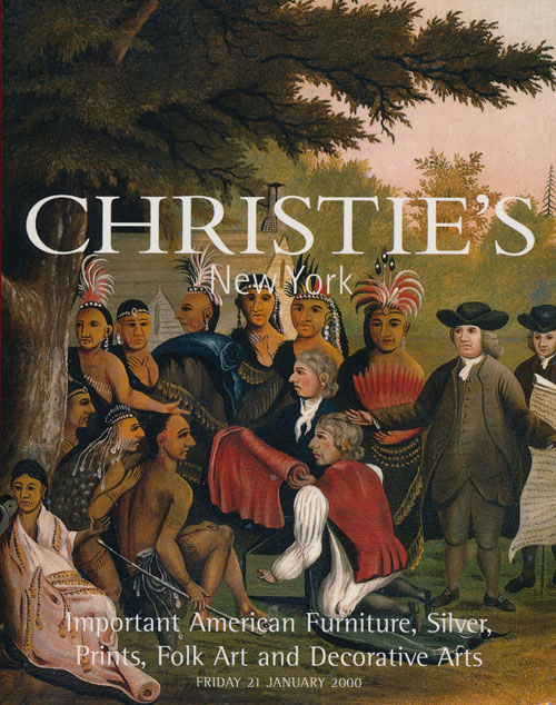Important American Furniture, Silver, Prints, Folk Art and Decorative Arts; Friday 21 January 2000. Sale # 9314. Christie's.