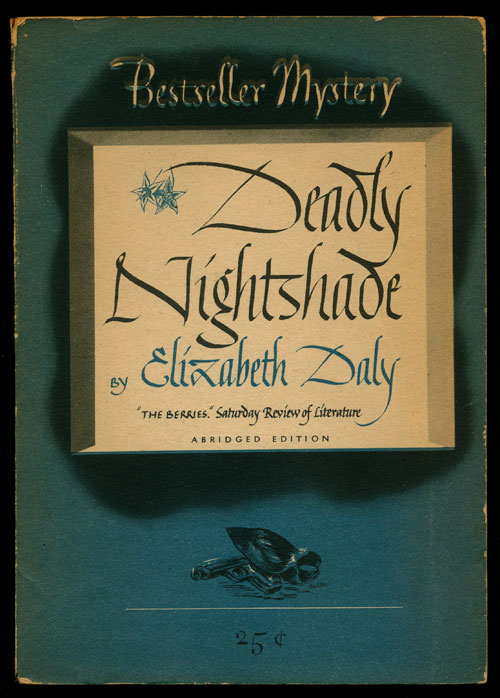 Deadly Nightshade. Elizabeth Daly.