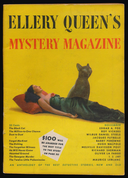 Ellery Queen's Mystery Magazine Volume 14, November 1949, Number 72 An Anthology of Detective Stories, New and Old. Edgar Allan Poe, Roy Vickers, Wilbur Daniel Steele, Barry Perowne, Etc.