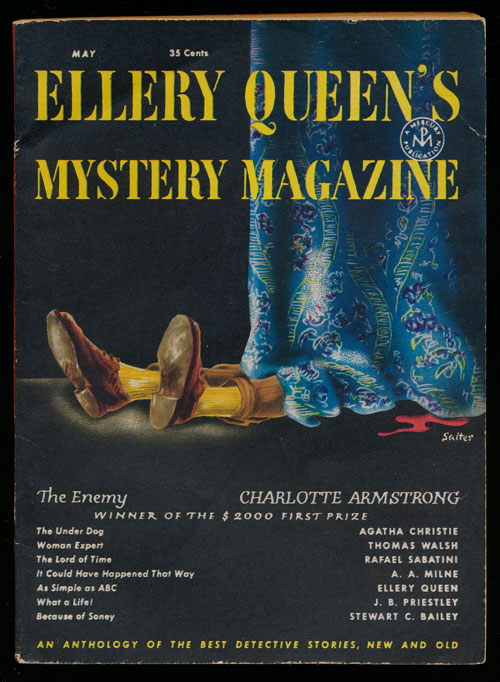 Ellery Queen's Mystery Magazine Volume 17, May 1951, Number 90 An Anthology of Detective Stories, New and Old. Charlotte Armstrong, Agatha Christie, A. A. Milne, Ellery Queen, Etc.