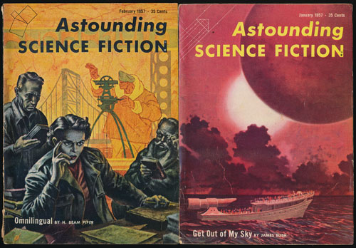 Astounding Science Fiction: January and February, 1957 (Two Complete Issues). John Campbell, James Blish, Poul Anderson, Eric Frank Russell, H. Beam Piper.
