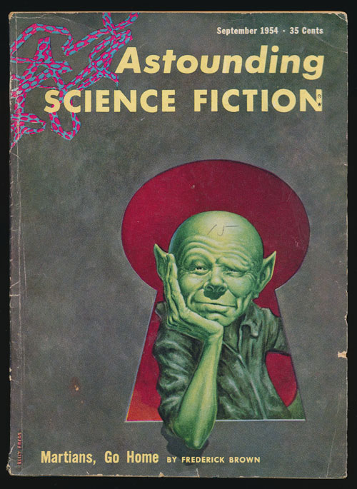 Astounding Science Fiction September 1954. John Campbell, Frederic Brown.
