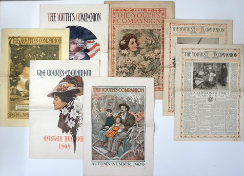 The Youth's Companion: 7 Issues (April 20, 1899; March 18, 1909; April 8, 1909; July 1, 1909; Sept 16, 1909; Nov, 20, 1919; June 3, 1920