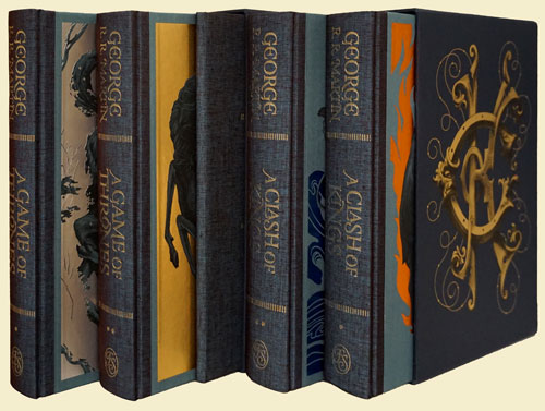 Game of Thrones and A Clash of Kings (5 Volumes in 2 Slipcases). George R. R. Martin.