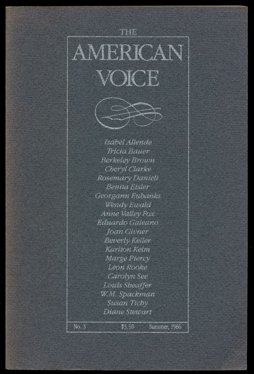 The American Voice. Isabel Allende, Marge Piercy, Carolyn See, Leon Rooke.