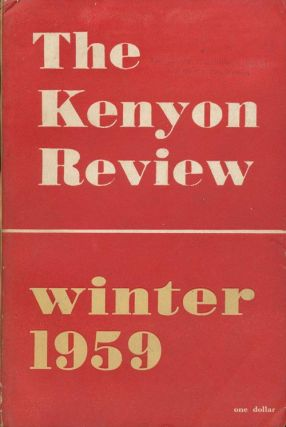 The Kenyon Review - Winter 1959. A. Alvarez, R. P. Blackmur, Lucia Dickerson, Etc.