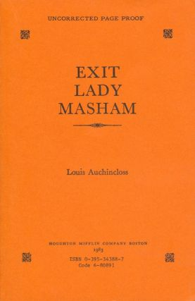 Exit Lady Masham. Louis Auchincloss