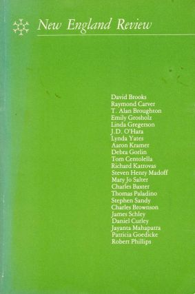 New England Review Vol. IV, No. 4. Summer, 1982. Charles Baxter, Raymond Carver, Stephen Sandy, Etc