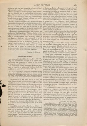 Hawthorne's Loyalty in Century Magazine January 1888. Nathaniel Hawthorne, Horatio Bridge