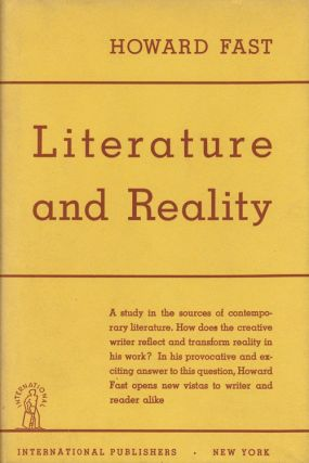 Literature and Reality. Howard Fast