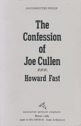 The Confession of Joe Cullen. Howard Fast