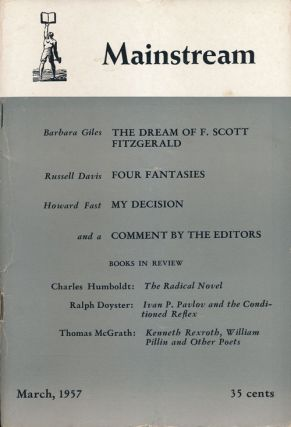 Mainstream March, 1957, Volume 10, Number 3. Howard Fast, Barbara Giles, Russell Davis, Etc