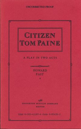 Citizen Tom Paine. Howard Fast