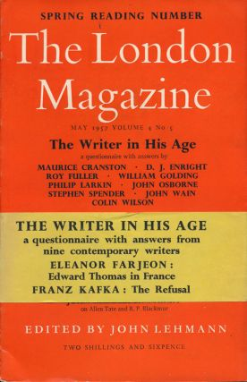 The London Magazine May 1957, Volume 4, Number 5. William Golding, D. J. Enright, Roy Fuller,...
